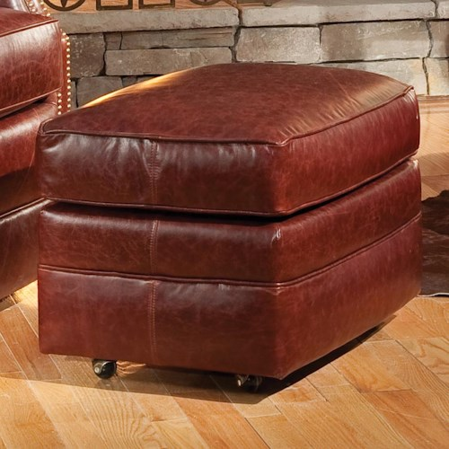 Smith Brothers Accent Chairs and Ottomans SB Ottoman with Casters