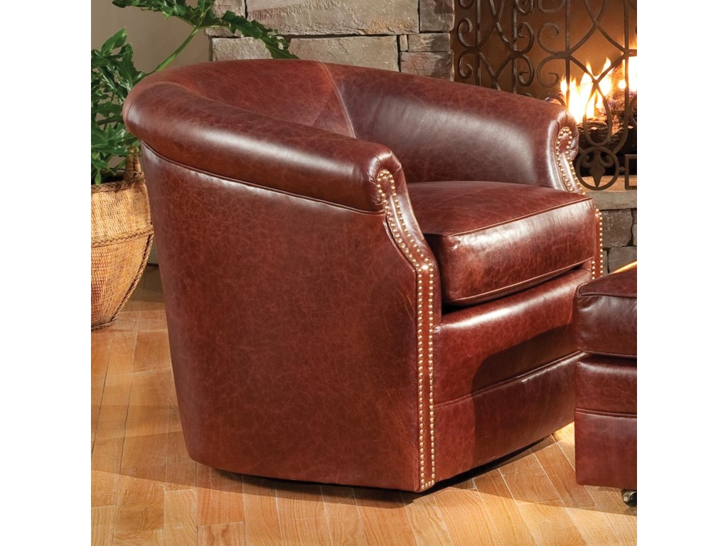 Smith Brothers Accent Chairs and Ottomans SBBarrel Swivel Chair