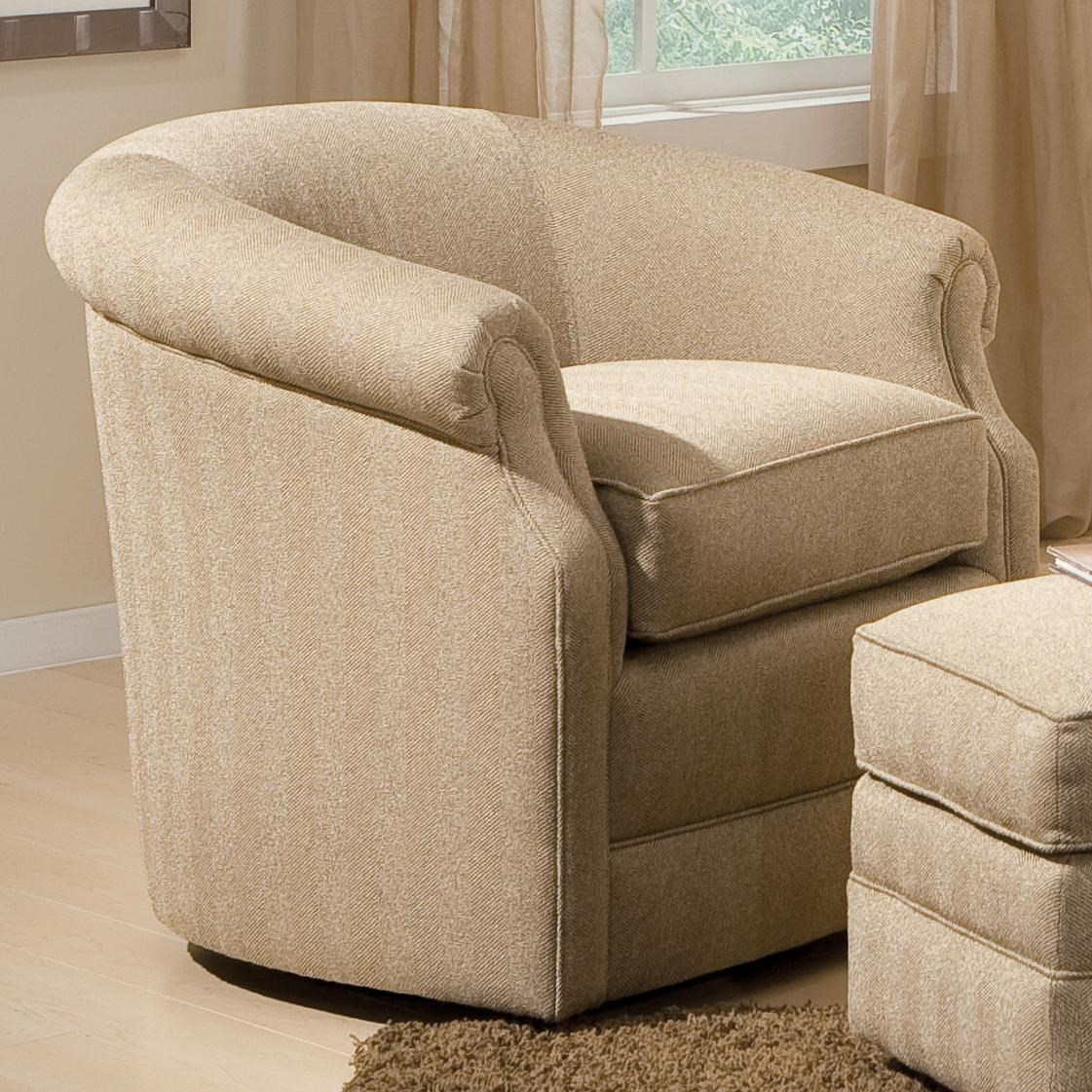 Merveilleux Smith Brothers Accent Chairs And Ottomans SBBarrel Swivel Chair ...