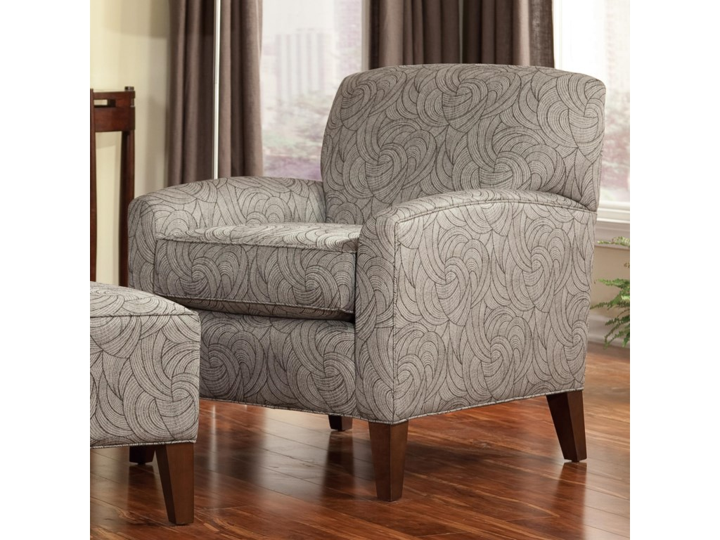 Smith Brothers Accent Chairs and Ottomans SBContemporary Chair and Ottoman