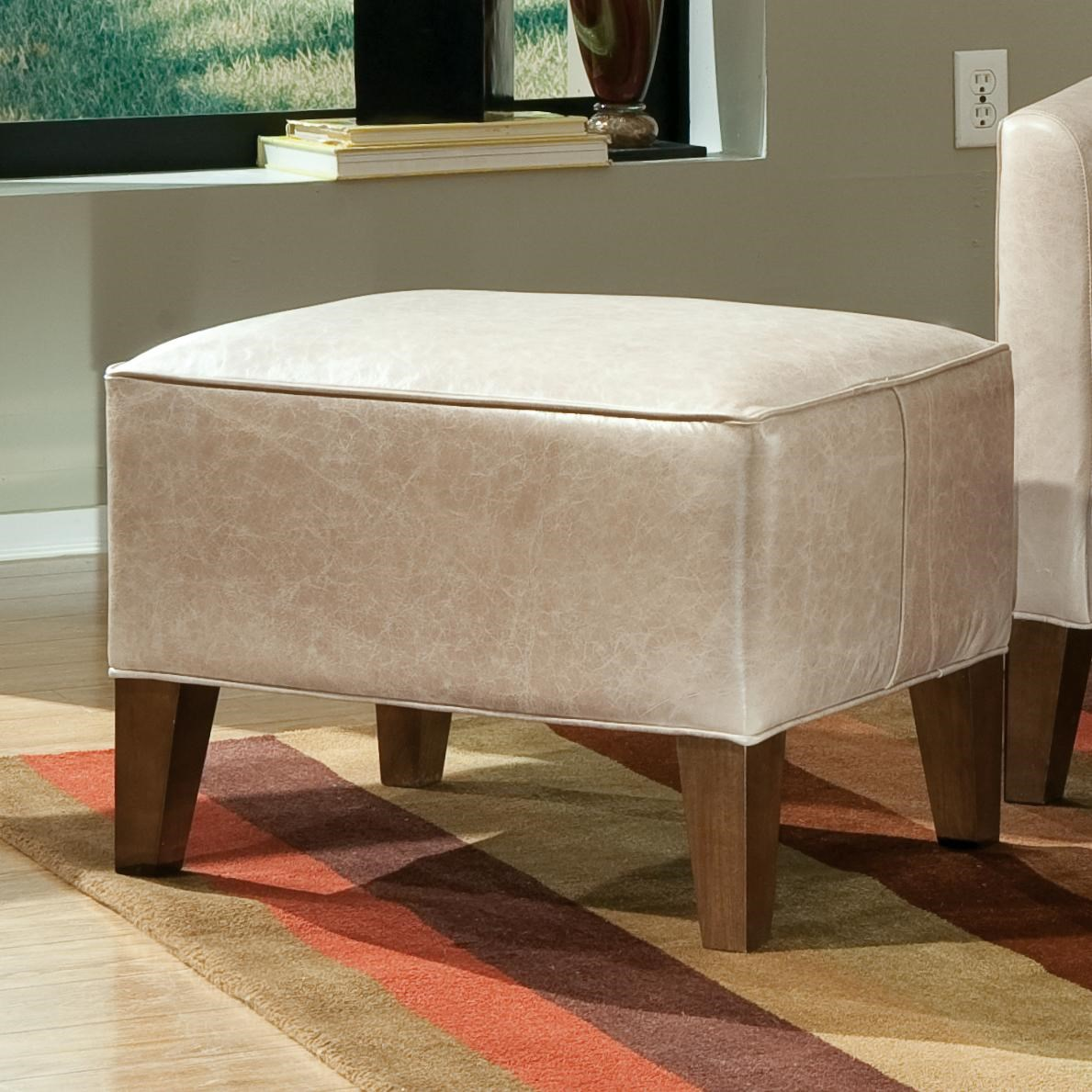Smith Brothers Accent Chairs And Ottomans SB Contemporary Ottoman With  Tapered Wood Legs   Dunk U0026 Bright Furniture   Ottomans