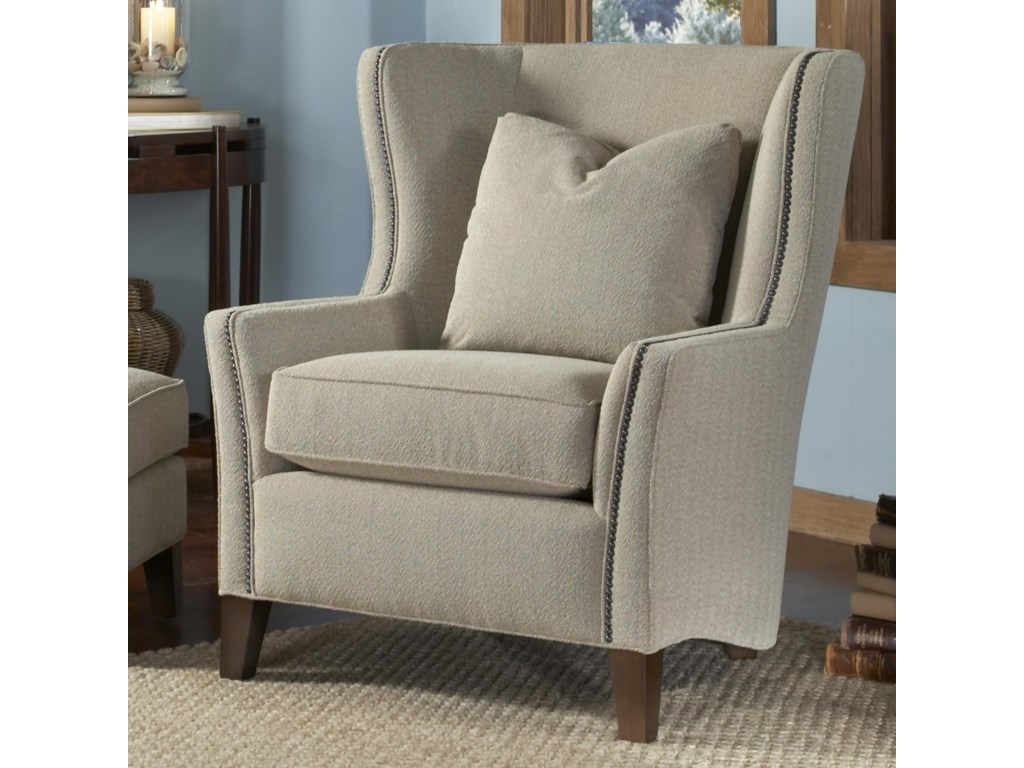 Accent Wingback Chairs Smith Brothers Accent Chairs And Ottomans Sb Wingback Chair And