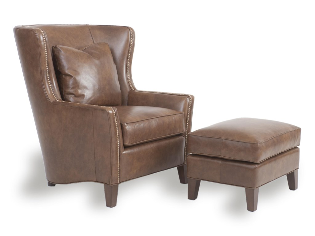 Smith Brothers Accent Chairs and Ottomans SBWingback Chair and Ottoman