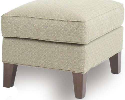 Smith Brothers Accent Chairs and Ottomans SB Ottoman with Tapered Wood Legs
