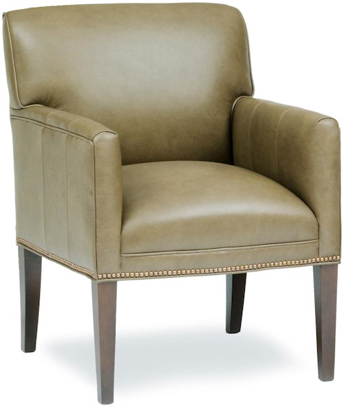 Smith Brothers Accent Chairs and Ottomans SB Upholstered Chair with Long Tapered Legs