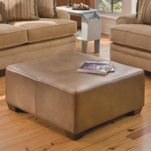 Smith Brothers Accent Chairs and Ottomans SB Large Square Accent Ottoman