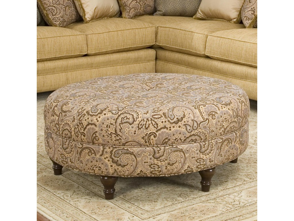 Smith Brothers Accent Chairs and Ottomans SBRound Ottoman