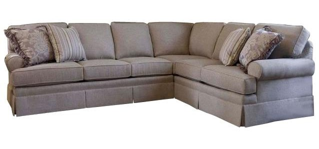 Smith Brothers Build Your Own (5000 Series)Sectional with Skirt and Rolled Arms