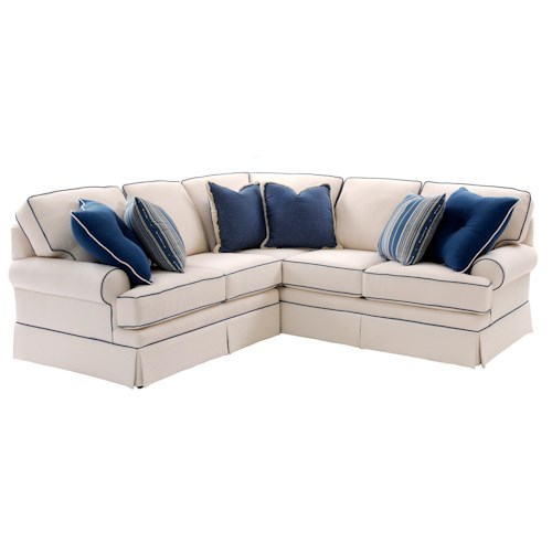 Smith Brothers Build Your Own (5000 Series) Sectional Sofa with Rolled Arms and Skirt