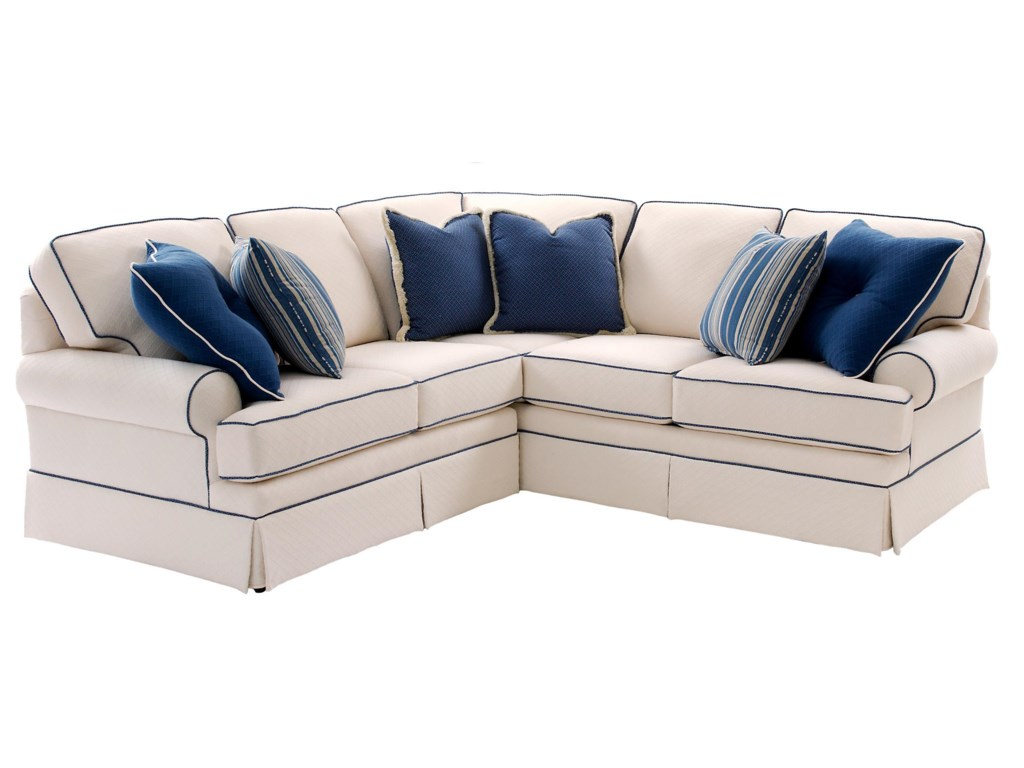 Build Your Own 5000 Series Sectional Sofa With Rolled Arms And Skirt By Smith Brothers