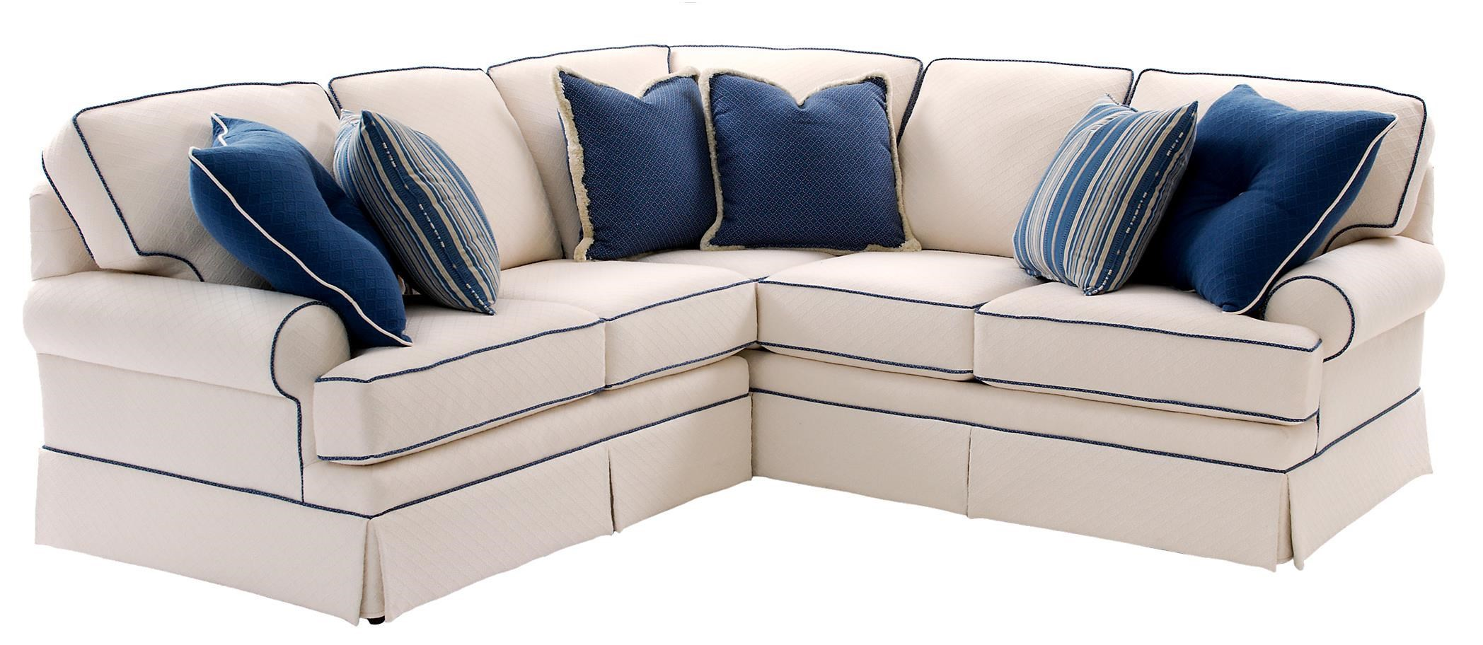 Smith Brothers Build Your Own (5000 Series) Sectional Sofa with Rolled Arms and Skirt - Saugerties Furniture Mart - Sectional Sofas  sc 1 st  Saugerties Furniture Mart : create your own sectional sofa - Sectionals, Sofas & Couches