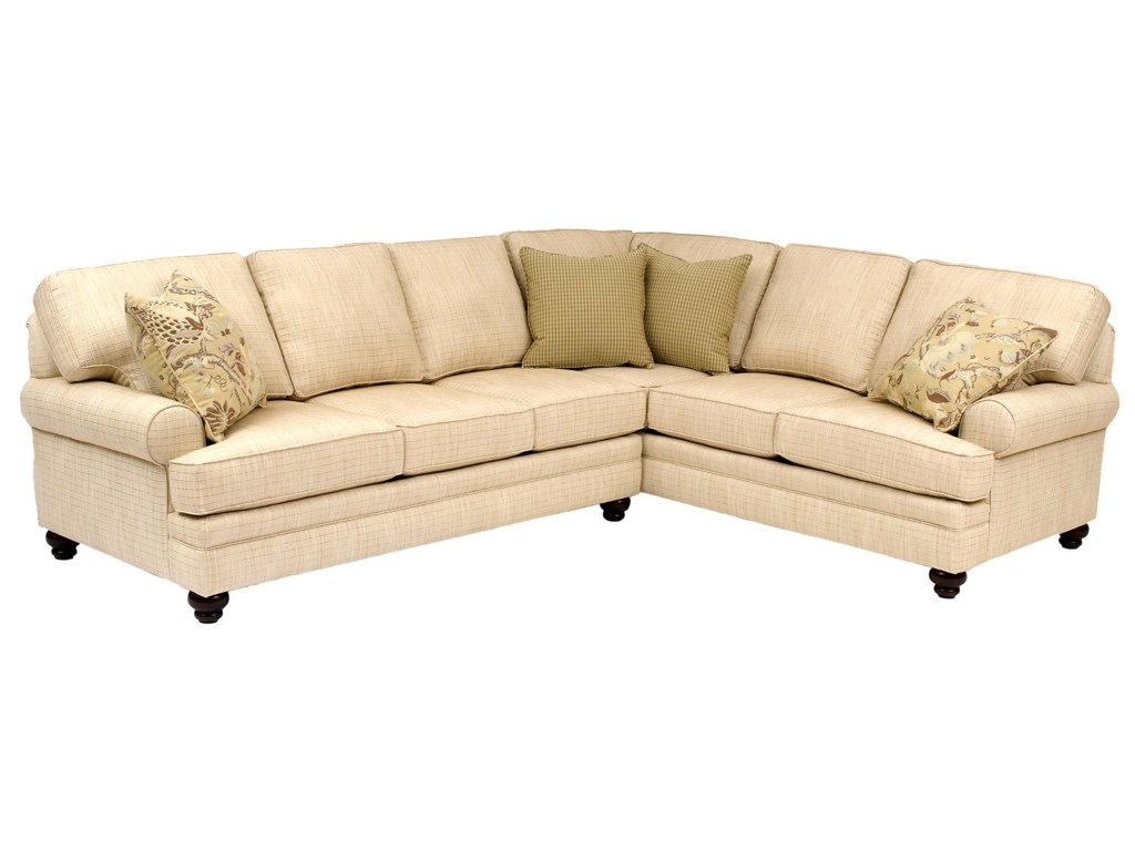 Smith Brothers Build Your Own (5000 Series)Sectional with Turned Legs & Sock Arms