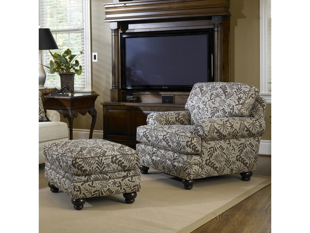 Smith Brothers Build Your Own (5000 Series)Upholstered Chair with Turned Leg