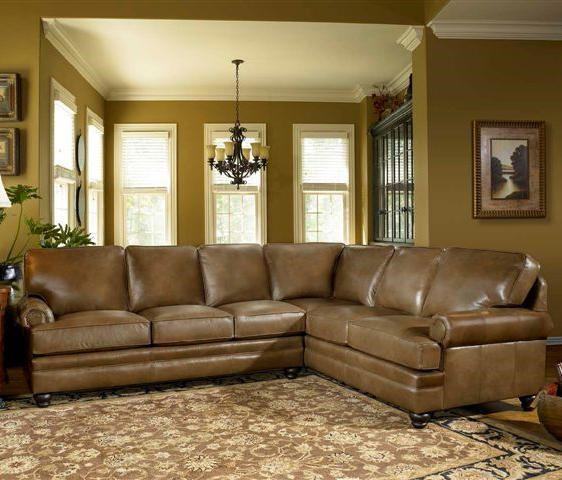 Smith Brothers Build Your Own (5000 Series) Leather Sectional With Panel  Arm U0026 Turned