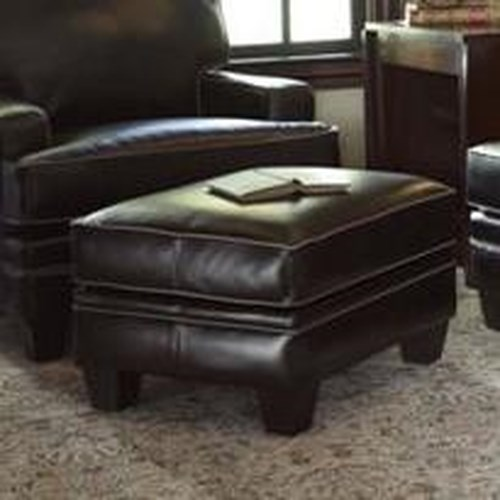 Smith Brothers Build Your Own (5000 Series) Upholstered Ottoman with Tapered Leg