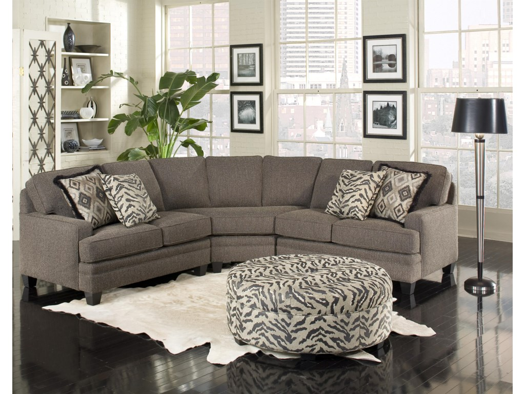 Build Your Own 5000 Series Five Person Sectional Sofa With Contemporary Style By Smith Brothers
