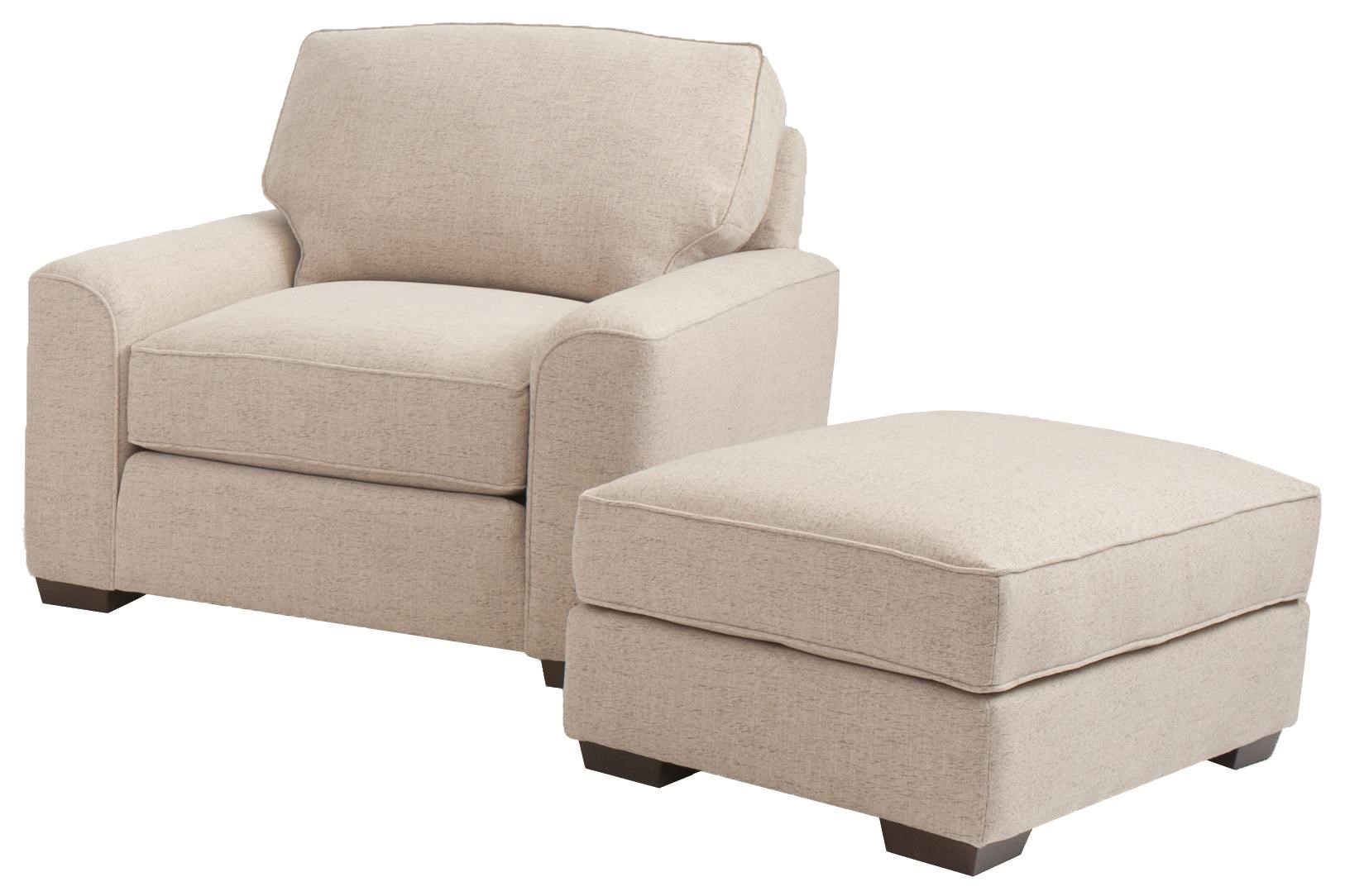 Smith Brothers Build Your Own (8000 Series) Retro Styled Chair And Ottoman  Set