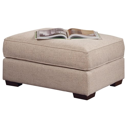 Smith Brothers Build Your Own (8000 Series) Casual Ottoman with Wood Feet