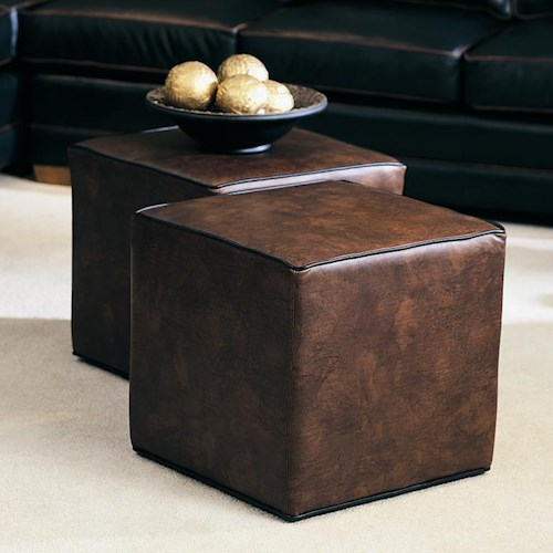 Smith Brothers Cocktail Ottomans Rectangular Ottoman with No Feet