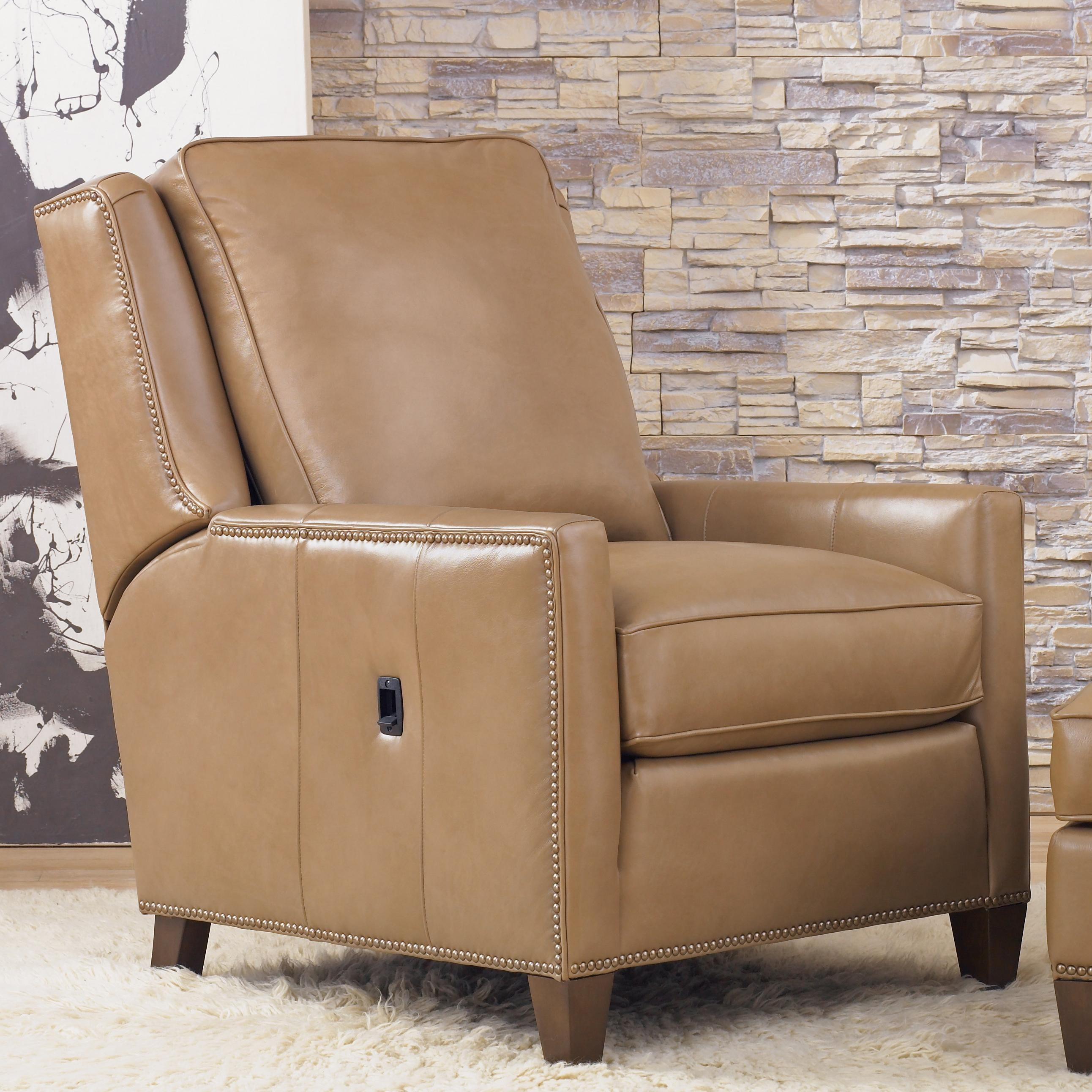 Attirant Recliners Transitional Tilt Back Chair With Nailhead Trim By Smith Brothers