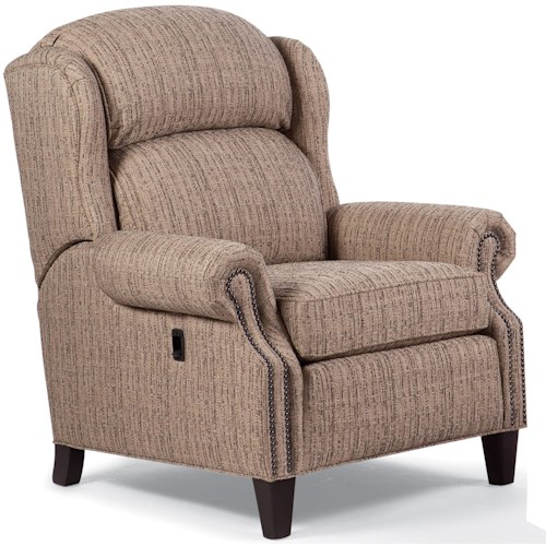 Smith Brothers Recliners  Traditional Pressback Reclining Chair with Nailhead Trim