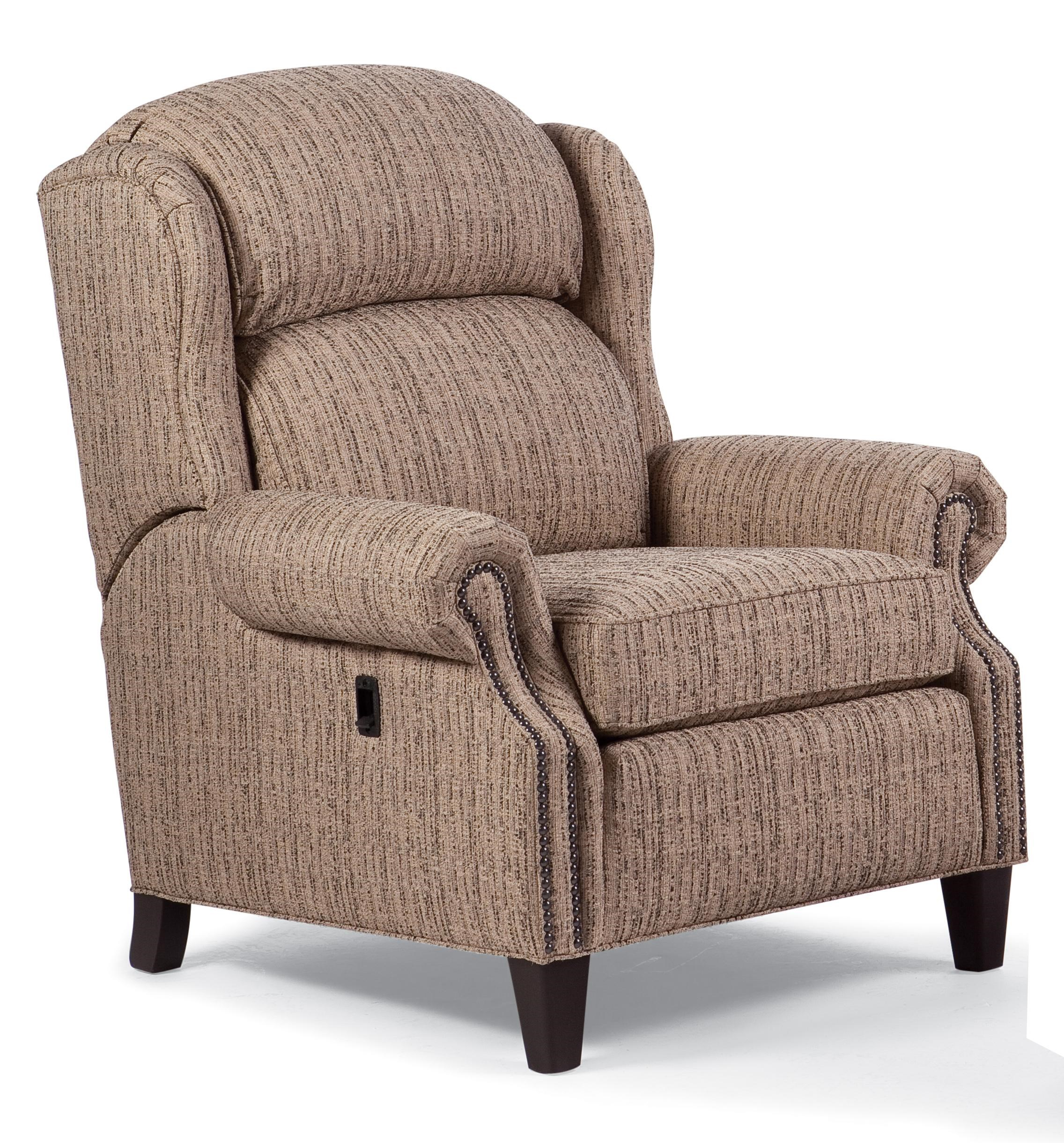Charmant Smith Brothers Recliners 532 77 Big/Tall Motorized Reclining Chair With  Nailhead Trim | Gill Brothers Furniture | High Leg Recliners