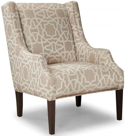 Smith Brothers Smith Brothers 513 Upholstered Chair with Track Arms and Tapered Wood Legs