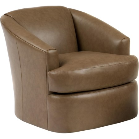 Leather  Contemporary Swivel Chair