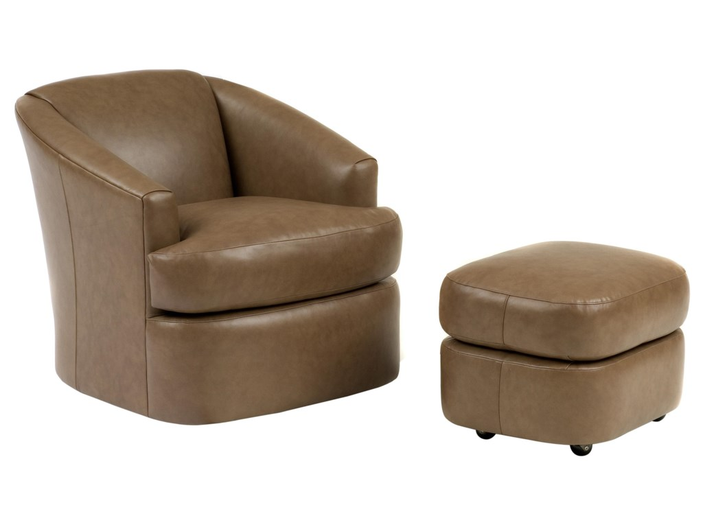 Smith Brothers Smith BrothersContemporary Swivel Chair and Ottoman