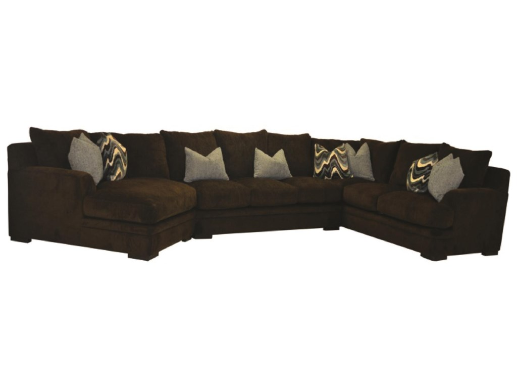 Sofamaster Alba3 PC Sectional with Cuddler