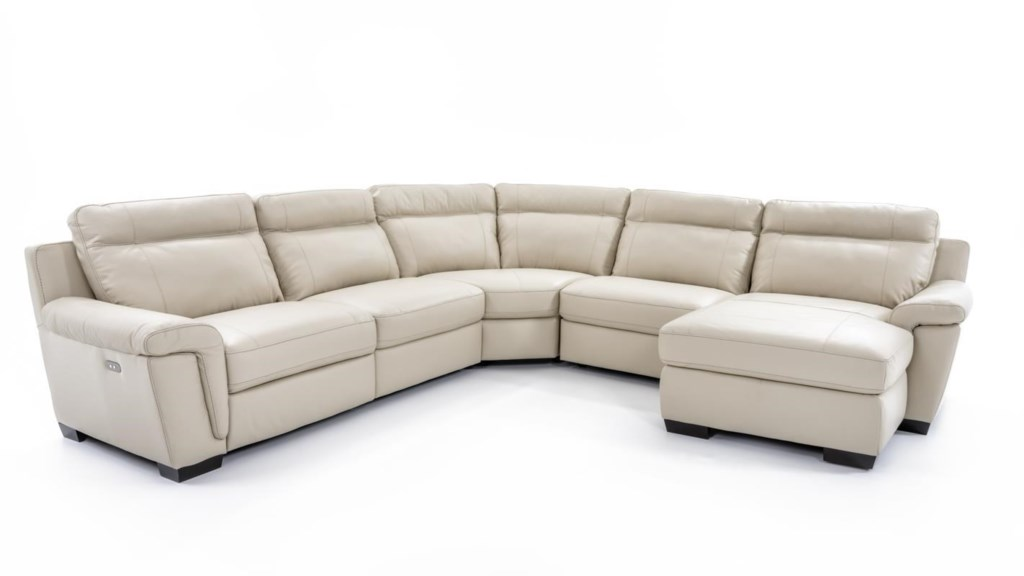 Softaly U137 U137 15dm In Cs Cream Five Piece Power Reclining  ~ Five Piece Sectional Sofa
