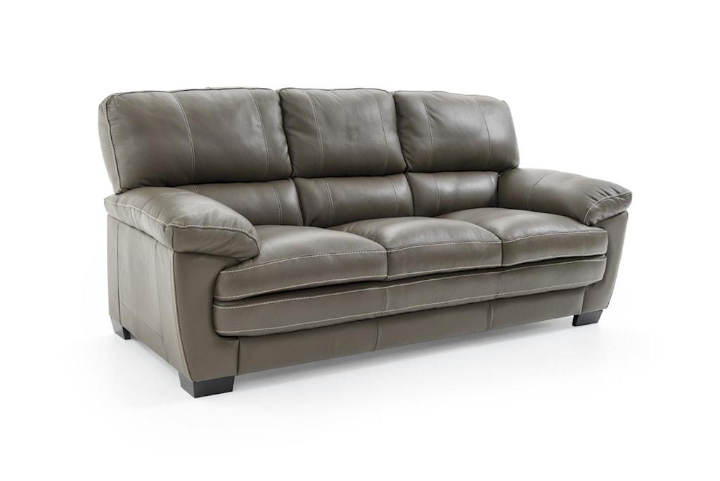 Softaly U219 Casual Leather Sofa Baer s Furniture Sofas