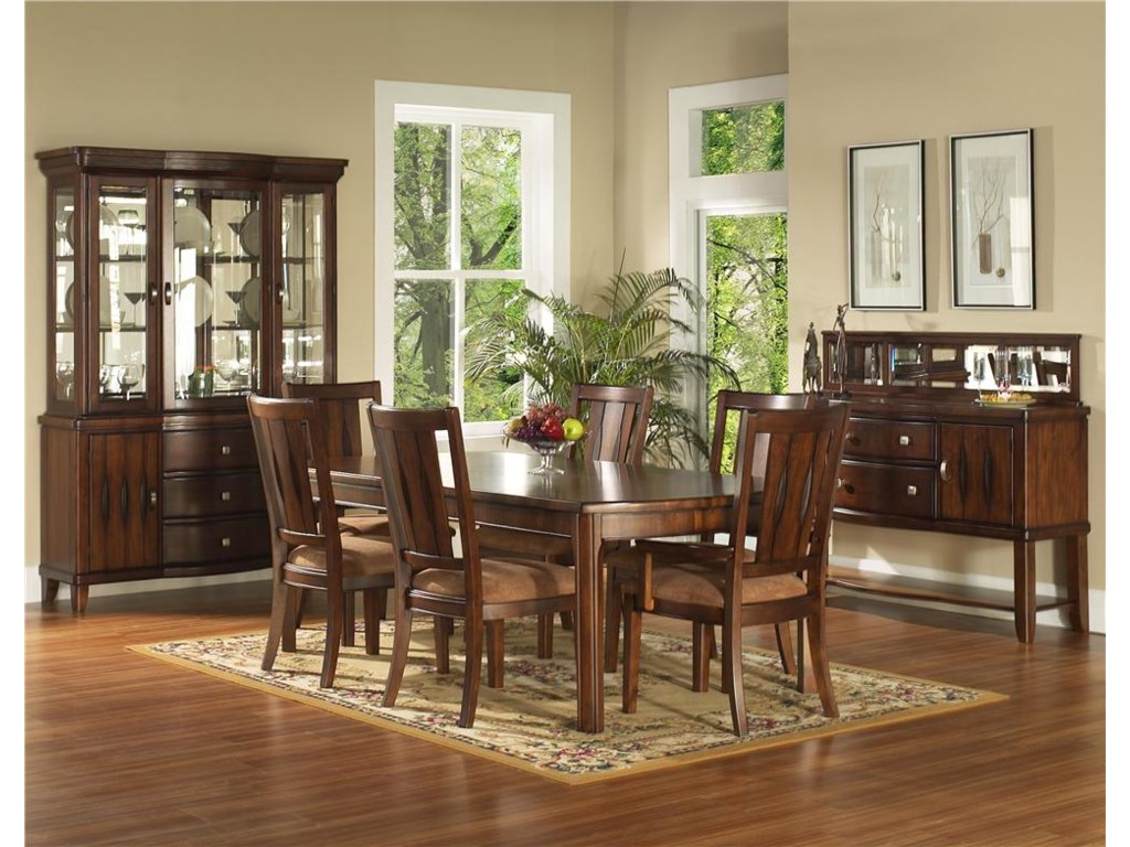 Shown with China, Table, Arm Chairs & Server