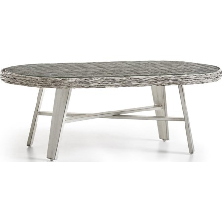 Oval  Coffee Table w/Glass