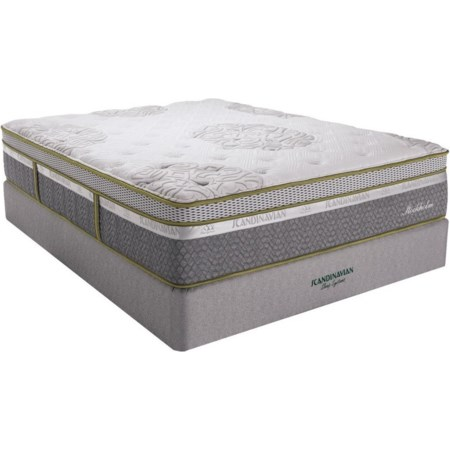"King 14"" Plush ET Latex Mattress Set"
