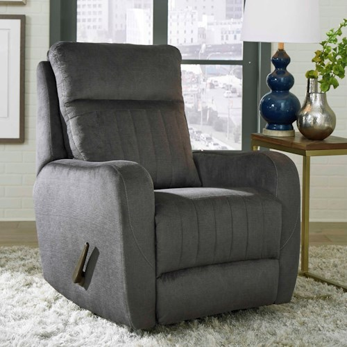 Southern Motion Racetrack Transitional Lay Flat Power Recliner with USB Port