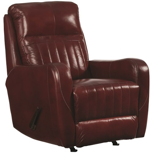 Southern Motion Racetrack Transitional Lay Flat Recliner with Power Headrest