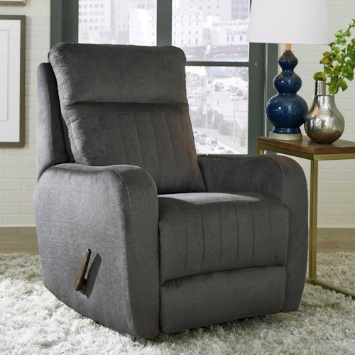 Southern Motion Racetrack Transitional Swivel Rocker Recliner with Track Arms