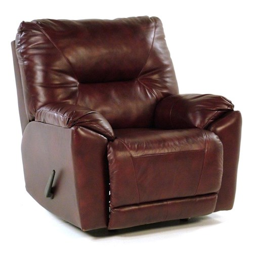 Design to Recline Manteo Rocker Recliner for Family Rooms