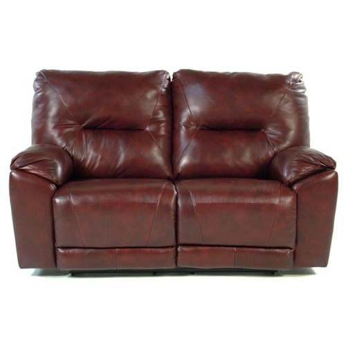 Design to Recline Manteo Double Reclining Loveseat for Family Rooms