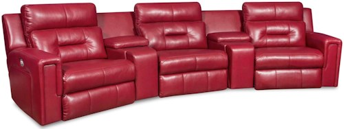 Southern Motion Excel Power Theater Seating Sectional with Three Seats