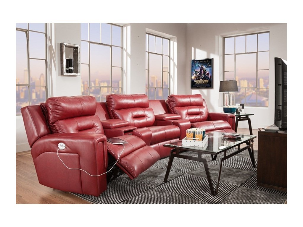 Southern Motion ExcelTheater Seating Sectional with Three Seats
