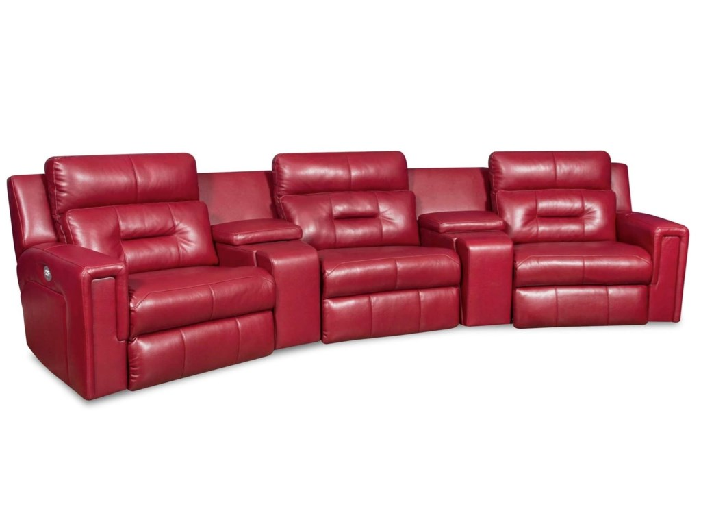 John V's Kick Backs ExcelPower Reclining Sectional Sofa