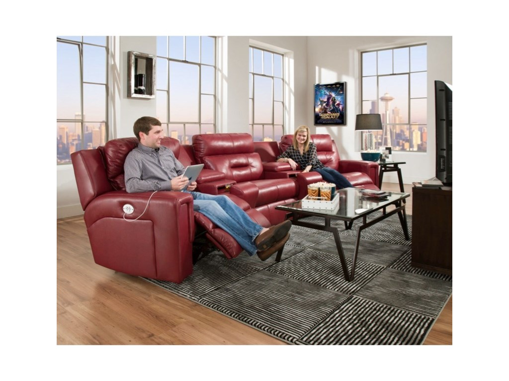 Southern Motion ExcelPower Reclining Sectional Sofa