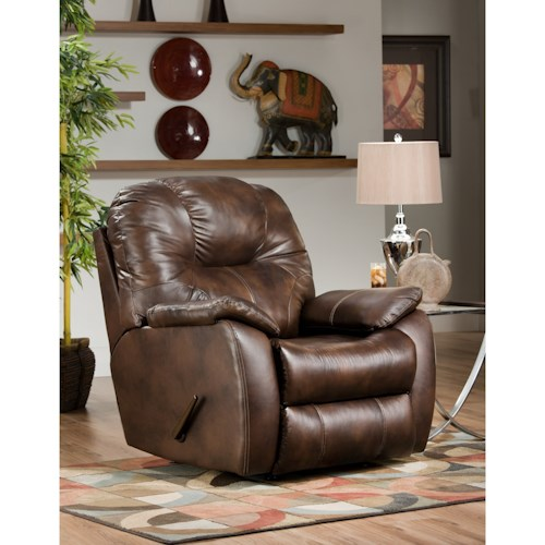 Southern Motion Avalon Power Rocker Recliner with Power Headrest and Lumbar