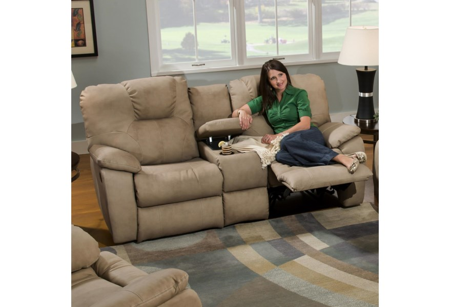 Rumley Reclining Sofa With Console By Southern Motion At Standard Furniture
