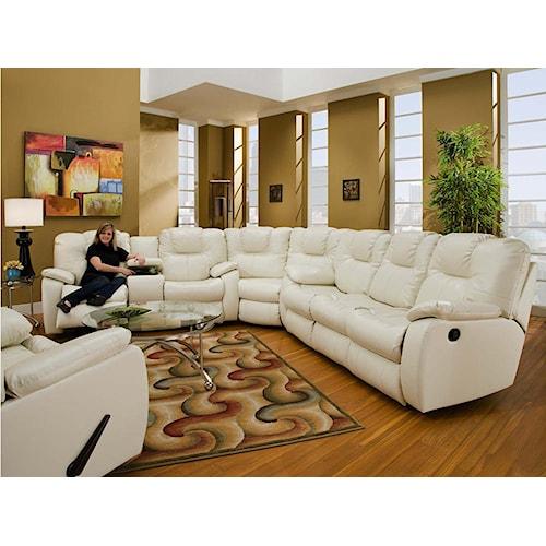 Design to Recline Avalon Three Piece Sectional Sofa