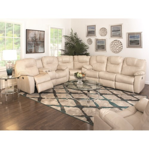 Design to Recline Avalon Three Piece Sectional Sofa