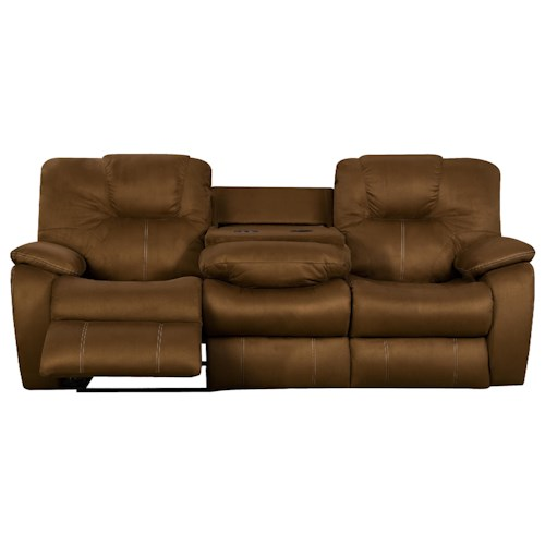 Design to Recline Avalon Comfortable Reclining Sofa with Drop Down Table