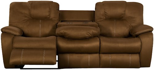 Southern Motion Avalon Comfortable Reclining Sofa with Drop Down Table